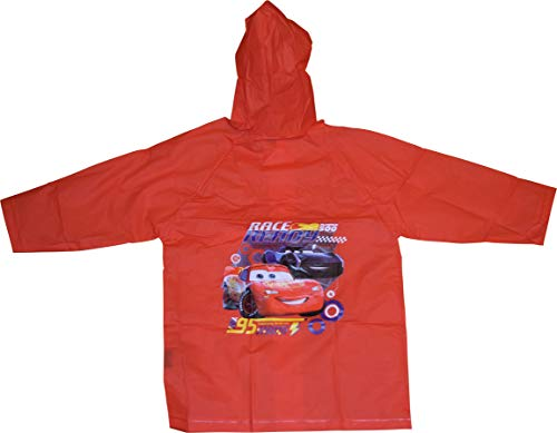 CARS McQueen Boy's Raincoat (X-Large 7/8) Red