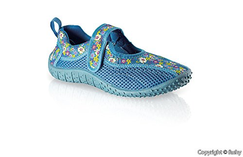 Fashy 7497- Kinder Aquaschuhe Badeschuhe Gr. 35,blau