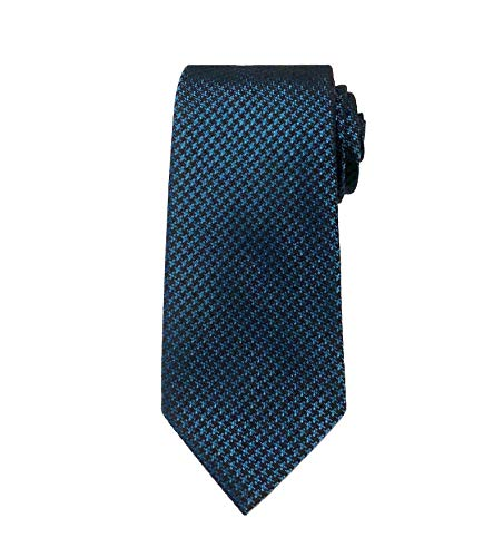 TOM FORD Mens Small Houndstooth Textured Silk Tie, Blue Green