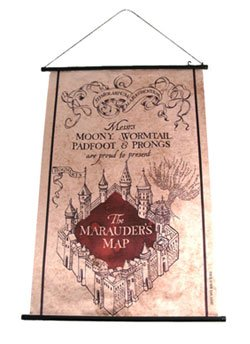 Cinereplicas - Harry Potter Wall Scroll Marauder's Map 60 x 80 cm (Map Scroll)