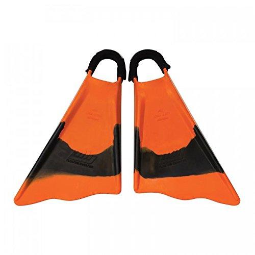 Ally Clark Little 9-10 Swim Fins & Tethers, Medium Large, Orange/Black/Orange