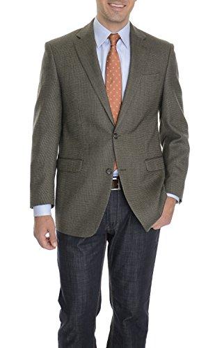 Ralph Lauren 38R Olive Green Textured Two Button One Vent Wool Blazer Sportcoat