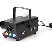 MFL Fog Machine, Portable Smoke Machine with LED Lights and Wireless Remote Control for Stage, Disco, Halloween and Weddings (500W, 2000 CFM)
