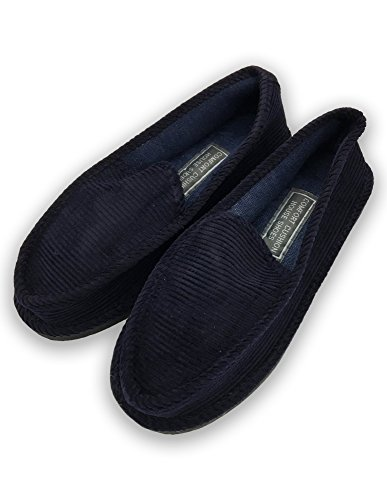 Corduroy Casual Shoes C amp;B Men's House Comfort Navy Sports Cushion Slippers 8Y8TU6
