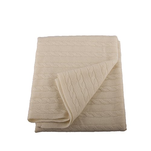 Lucky Bird Cashmere Baby Blanket, Cream by Lucky Bird Cashmere (Image #7)