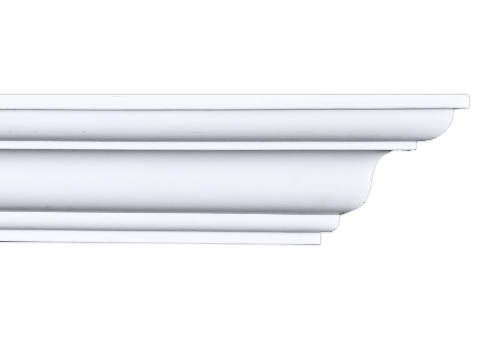 Crown Molding - Plastic Crown Moulding Manufactured with a Dense Architectural Polyurethane Compound. CM-1300 Crown Molding. (8) by DreamWallDecor
