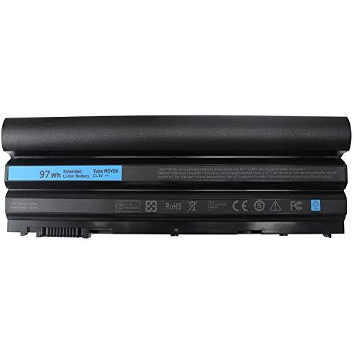 1165 Laptop - BYTEC 9Cell 97WH T54FJ M5Y0X Laptop Battery Compatible with Dell Latitude E5420 E6420 E5520 E5530 E6520 E6430, fit T54FJ 2P2MJ 312-1325 312-1165 PRV1Y
