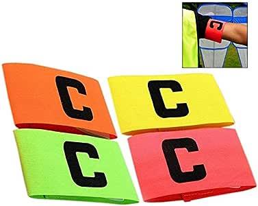 iwobi 4 Piezas Brazalete de Capitán Fútbol, Elastico Brazalete de Capitan Fútbol C, Multicolor, diseño antigotas para Adultos y jóvenes: Amazon.es: Electrónica