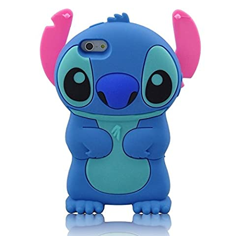 iPhone SE Case, MC Fashion American Cartoon Cute 3D Stitch Protective Silicone Phone Case for iPhone 5/5S/SE (Stitch Cell Phone Case)