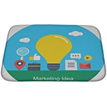 Gear New Bath Rug Mat No Slip Microfiber Memory Foam, Illustration Of Digital Marketing Idea Concept Of Marketing Idea Including, 24x17