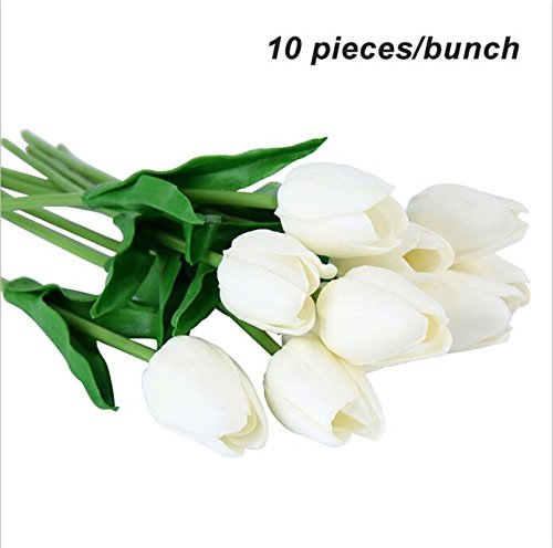 (Annibus Flower Tulip: Umiwe 10/30pcs PU Fake Artificial Silk Tulips Flores Artificiales Bouquets Party Artificial Flowers for Home Wedding Decoration)