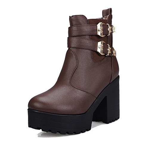 Women's High-Heels Solid Round Closed Toe Soft Material Pull on Boots