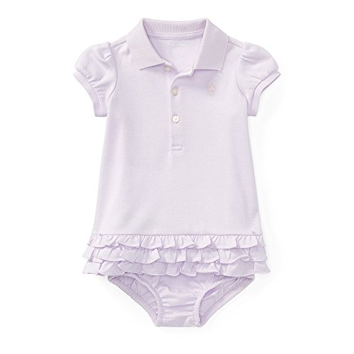 RALPH LAUREN Baby Girl Ruffled Polo Dress & Bloomer Set