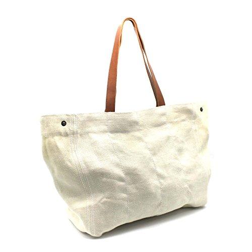 sac grand étudiante en sac toile sac été jute d'été Cabas Ecru grand Lila sac cabas cabas de sac plage école CxPTqfwFa