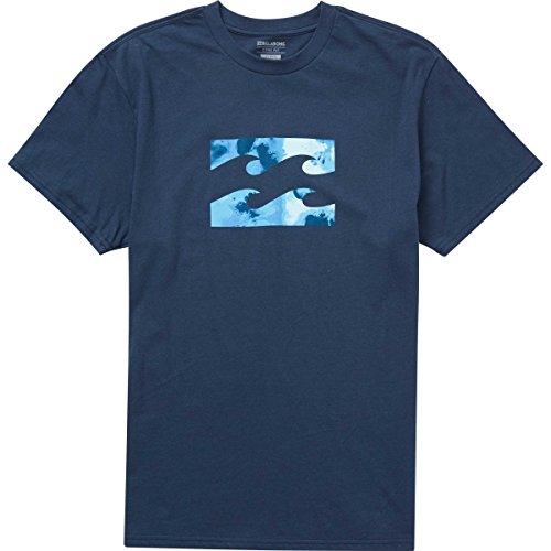 Billabong Men's Team Wave Tee, Navy, (Billabong Blue Shirt)