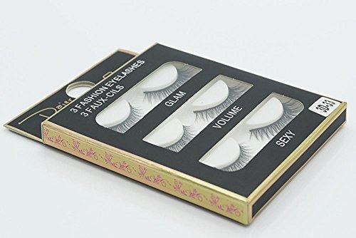 3 PCS Naturel incroyable 3D stéréo multicouche faux cils pur artisanal cils (3 paires) 3D-33