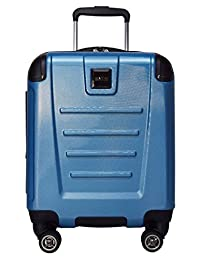 """Kenneth Cole Reaction Get Away 16"""" Expandable 8-Wheel Upright Carry-On Spinner (Ocean Blue)"""