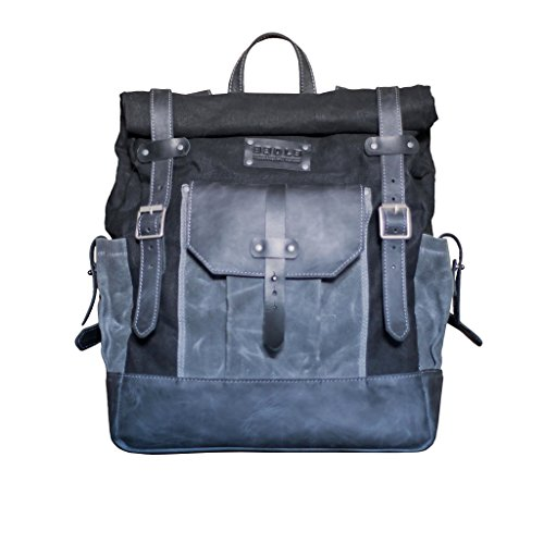 rucksack Grey laptop leather bag Designers Genuine for CBqawU