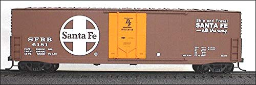 (50' Welded-Side Plug-Door Boxcar - Kit -- Santa Fe (bright red))