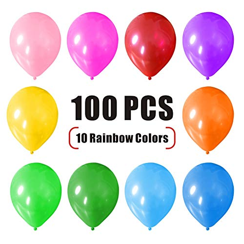 Maggift 12 Party Balloons, Assorted Color Party Decoration Balloons, 100pcs