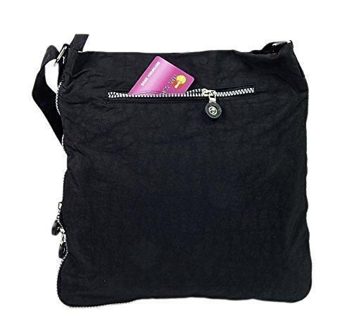 cruzados para mujer Bag de Bolso BLACK Street nailon xOzOwaqE7