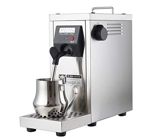 Hanchen Commercial Milk Frother, Automatic Milk Steamer Electric Coffee Frothing Machine 800ml Professional Double Hole Pump Embossed Coffee Milk Frother One Year Warranty