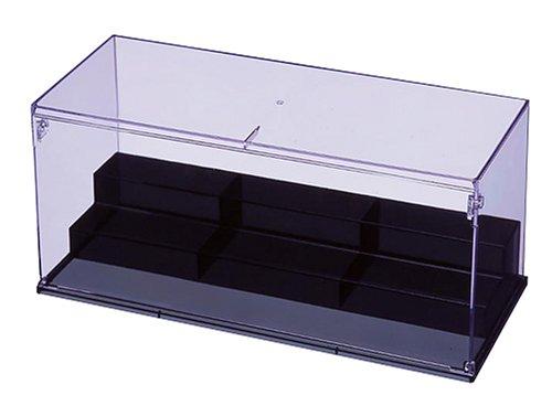クリアーコレクションケース ひな壇 W400タイプ スモークブラック 59-481