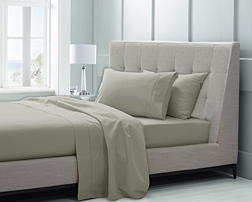 Chateau Home Hotel Collection Luxury 100% Supima Cotton Solid 600 Thread Count Sheet Set Mega Sale - Lowest Prices Guaranteed!, KING-SILVERSTONE (King Bedding Collections)