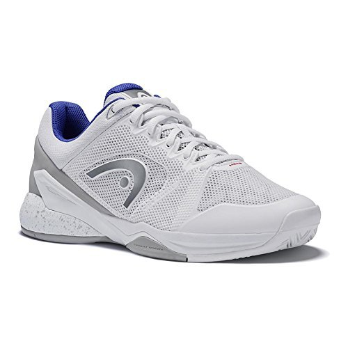 HEAD Women`s Revolt Pro 2.5 Tennis Shoes White and Gray-(274018WHGR-S18)