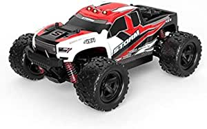 RC Car 50km/h High Speed Waterproof All Terrain Off Road Vehicle Model Rechargeable 2.4G 4WD RC Truck Toy Best Gift for Adults Kids Gift (Color : Red)