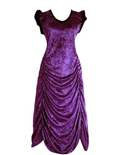 Victorian Valentine Steampunk Gothic Vintage Era Women's Dress Plum Purple (3X) (Purple Masquerade Dresses)