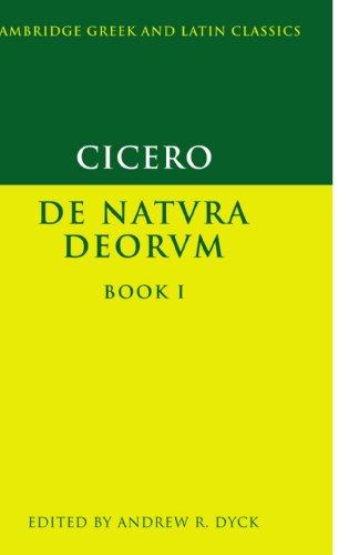 Cicero: De Natvra Deorvm, Book 1