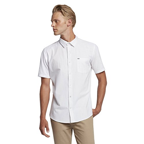 Hurley MVS0003780 Men's One And Only Short Sleeve Shirt, White - M by Hurley