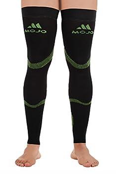 MoJo Sports Recovery Compression Thigh Sleeve (Medium, Black Green)
