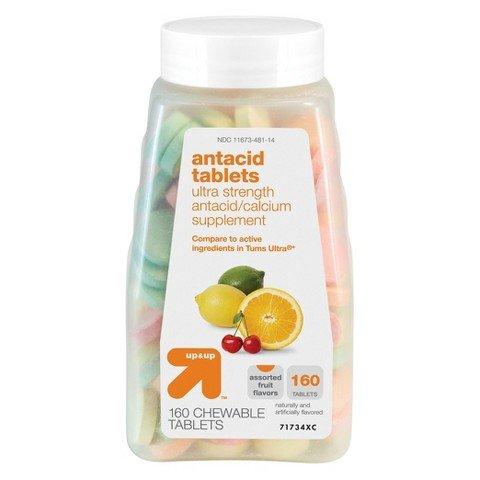 up & up Ultra Strength Antacid Tablets Assorted Fruit Flavor,C28 160 ct.