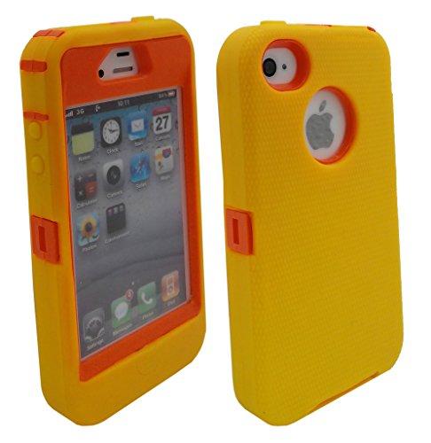 Shockproof Armor Case iPhone 4/4s (Orange) - 5