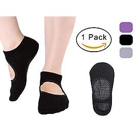 Yoga Socks for Women Non Slip Socks Pilates Ballet Barre Socks with Grips Anti-Skid Sox(Size 5-9)