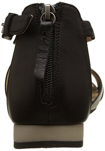 Geox D Formosa A, Sandales Bout Ouvert Femme, Noir (Black/GUNC9B1G), 38 EU