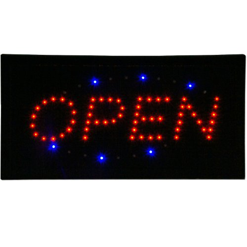 OPEN & Ice Cream Animated LED Signs Store Neon Business