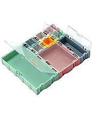 WANMEI 9 st/set SMD behållare SMT IC elektronisk komponent mini förvaringsbox smycken fodral