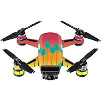 Skin For DJI Spark Mini Drone – Sherbet Palms | MightySkins Protective, Durable, and Unique Vinyl Decal wrap cover | Easy To Apply, Remove, and Change Styles | Made in the USA