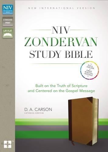 NIV Zondervan Study Bible, Imitation Leather, Tan/Brown