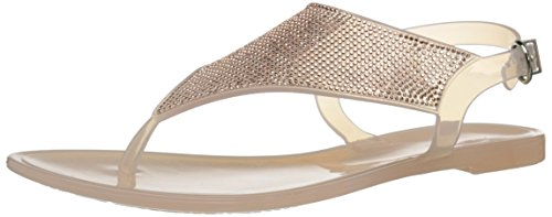 Aldo Womens Venassa Jelly Sandal Bone 38 EU7.5 B US