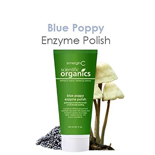 emerginC Scientific Organics - Blue Poppy Enzyme Brightening Polish, Facial Exfoliating Scrub (2oz / 60ml) by EmerginC (Image #3)