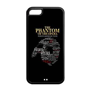High Quality Customizable Durable pc Material The Phantom of the Opera iPhone 5C Back Cover Case