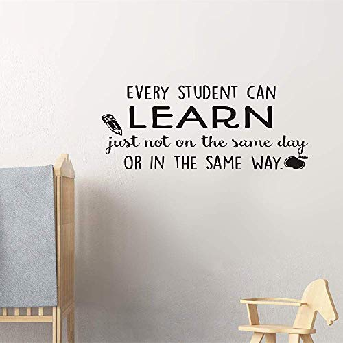 Dozili Vinyl Wall Decal Sticker Wall Art Love Every Student Can Learn Just Not On The Same Day Or in The Same Way for Classroom Hose Home Decoration Gift Idea 18