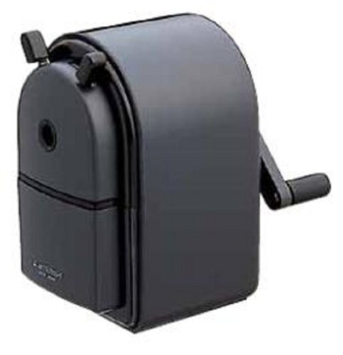 Uni KH-20 Hand Crank Wooden Pencil Sharpener - Black by Mitsubishi Pencil Co., Ltd.