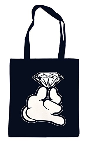 Dope Hands Diamond Bag Black