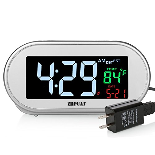 Used, ZHPUAT Digital Clock Auto Time Set Plug Alarm Clock for sale  Delivered anywhere in USA