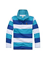 Panegy Baby Child Boy T-Shirt Long Sleeves Tops Striped Polo Shirt for 1-7 Years